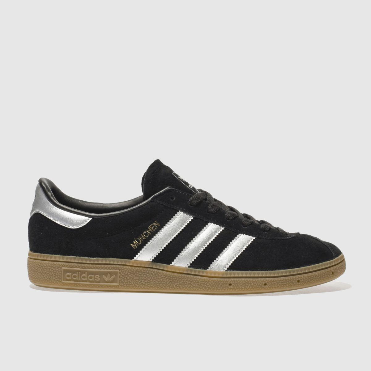 adidas black munchen trainers