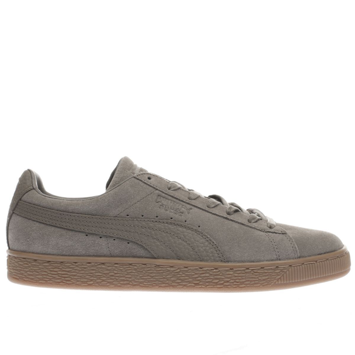 puma dark grey suede classic trainers