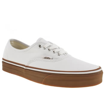 mens vans white authentic trainers