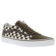 Vans White & Green Old Skool 50th Mens Trainers