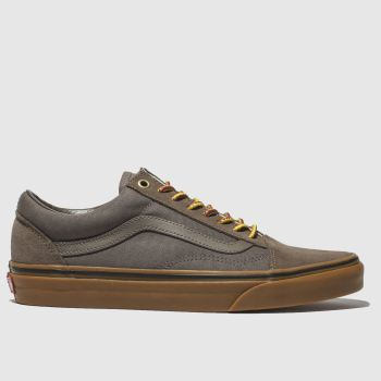 Mens Vans Grey Old Skool Trainers
