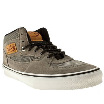 mens vans grey half cab trainers