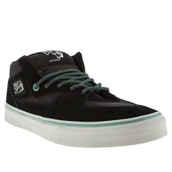 Vans Black & Green Half Cab Trainers
