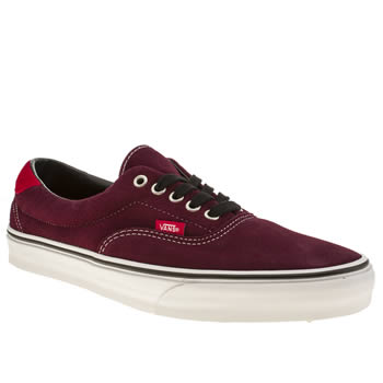Mens Vans Burgundy Era 59 Trainers