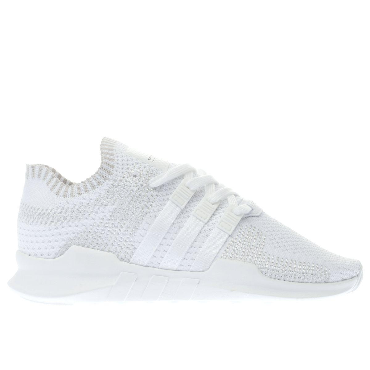 adidas white eqt support adv primeknit trainers
