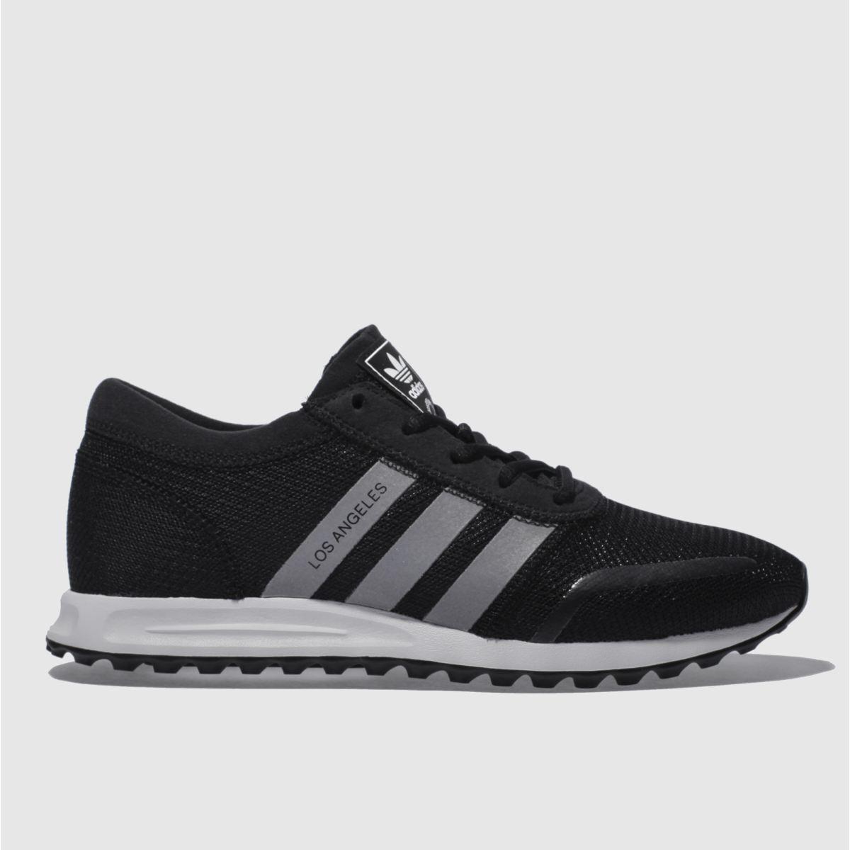 adidas black & white adi los angeles trainers