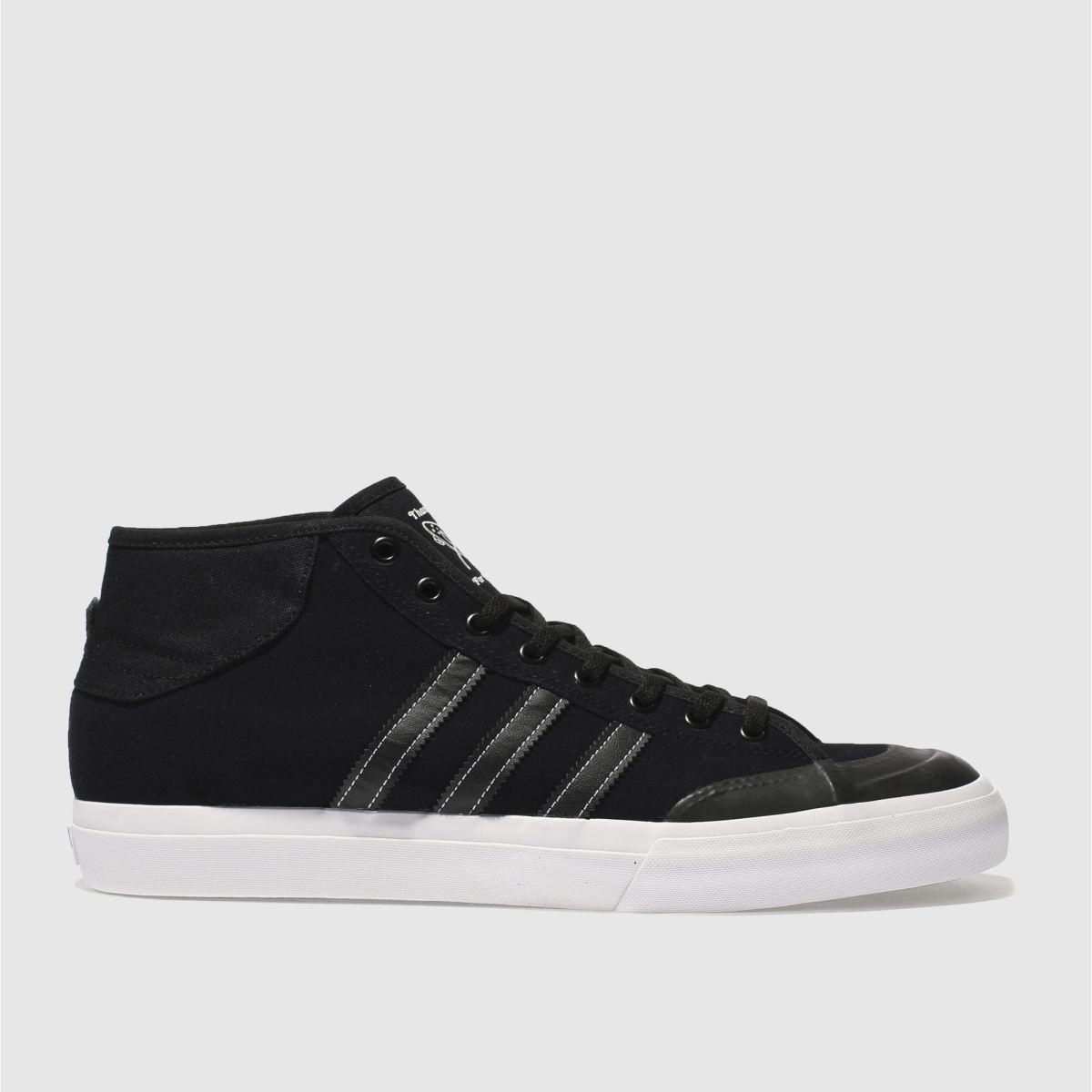 adidas black matchcourt mid trainers
