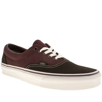 mens vans burgundy era trainers