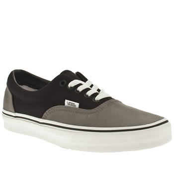 Vans Grey & Black Era Trainers