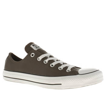mens converse brown all star leather ox trainers