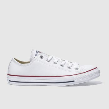 Mens Converse White All Star Leather Ox Trainers