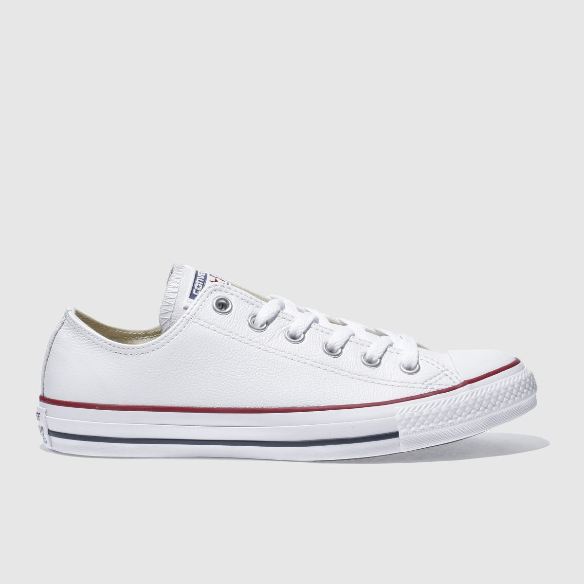 converse white all star leather ox trainers