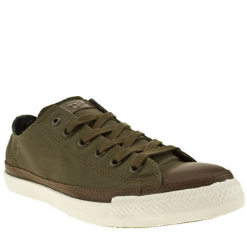 mens converse khaki chuck taylor all star lp ox trainers