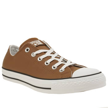 Converse Tan All Star Leather Ox Mens Trainers