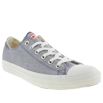 Converse Pale Blue All Star Ox Trainers