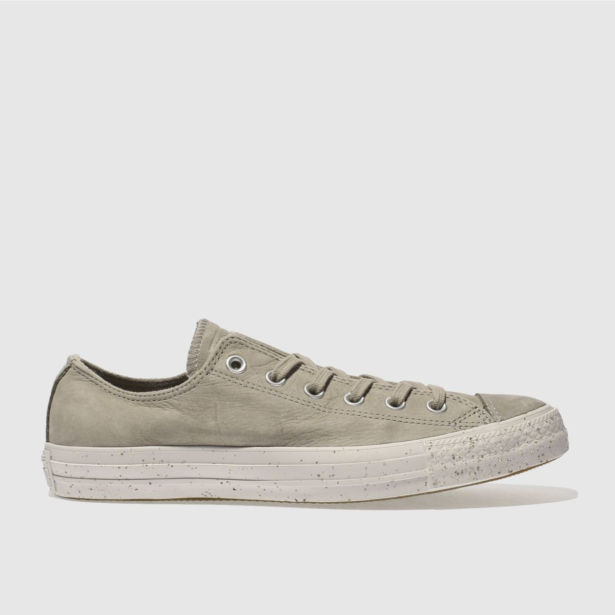 converse light grey chuck taylor all star ox trainers