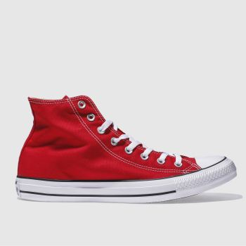 Converse Red All Star Hi Mens Trainers