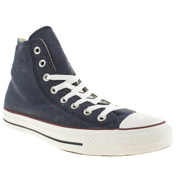 Converse Navy & White All Star Jersey Hi Trainers