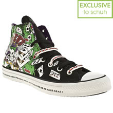 Black & Green Converse All Star Dc Joker Hi