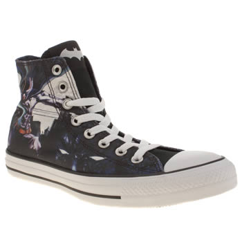 Converse Black & Navy Chuck Taylor Batman Hi Trainers