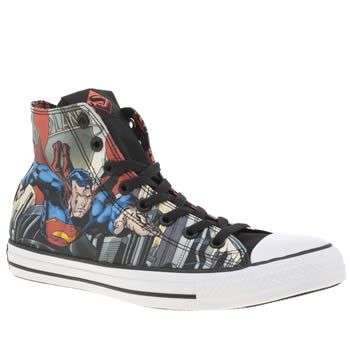 Converse Multi Chuck Taylor Hi Superman Mens Trainers