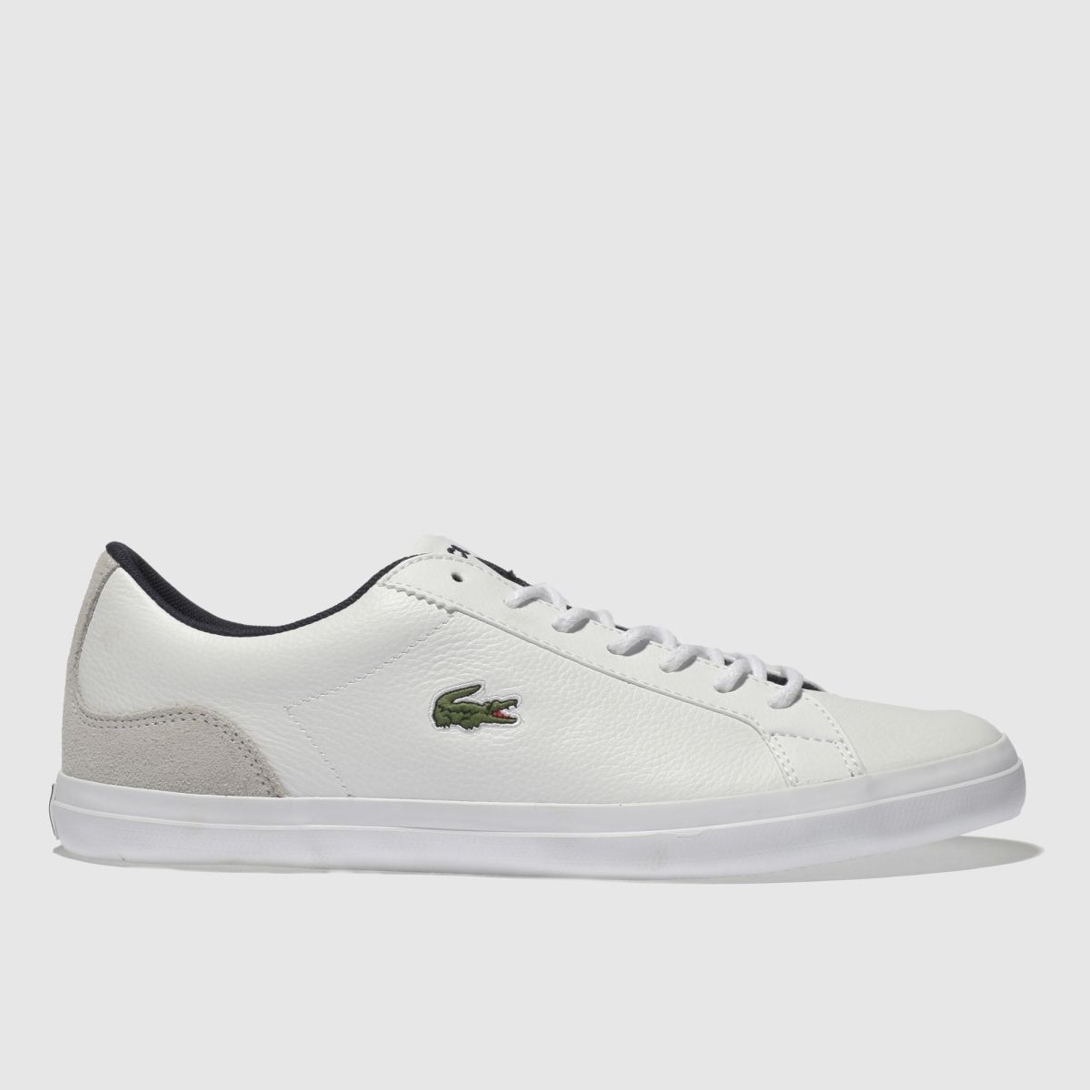 Lacoste White & Navy Lerond Trainers