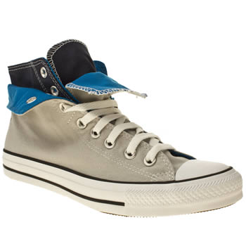 mens converse grey all star two fold hi iii trainers