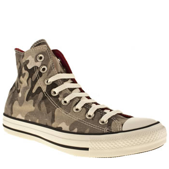mens converse grey all star camo print hi trainers