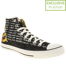 Black Converse Simpsons Bart Hi