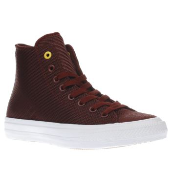 Converse Burgundy Chuck Taylor Ii Hi Textile Trainers