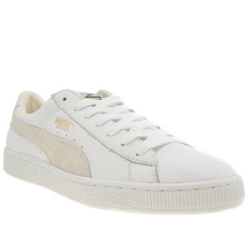 Mens Puma White Basket Classic Trainers