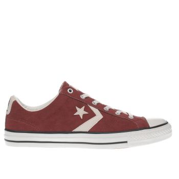 mens converse burgundy star player ox trainers