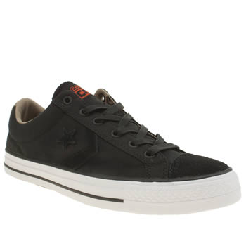 Converse Black Star Player Rip Stop Trainers