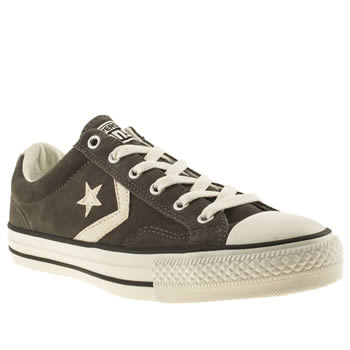 mens converse grey star player ox trainers