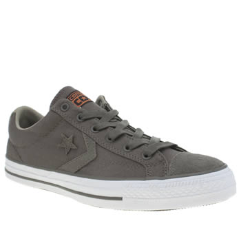 Converse Dark Khaki  Star Player Rip Stop Trainers