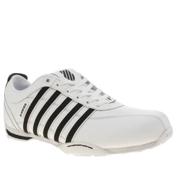 K-Swiss White & Black Arvee 1.5 Trainers