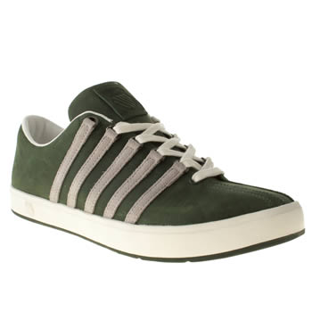 mens k-swiss dark green the classic ii trainers