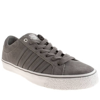 Mens K-Swiss Grey Adcourt La Trainers