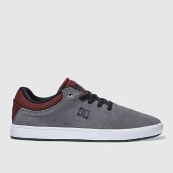 Dc Shoes Grey Crisis Mens Trainers