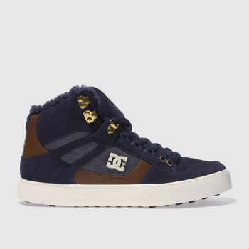 Dc Shoes Navy Spartan Hi Wc Wnt Mens Trainers