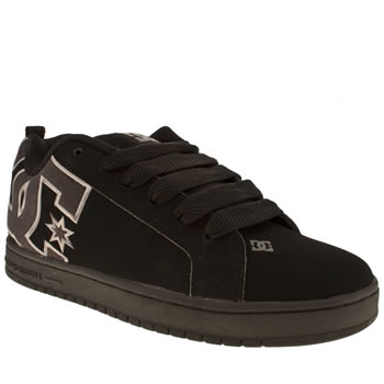 mens dc shoes black court graffik se trainers
