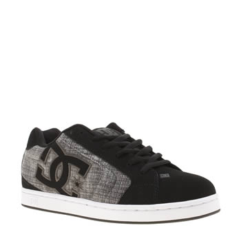 Dc Shoes Black & Grey Net Se Mens Trainers