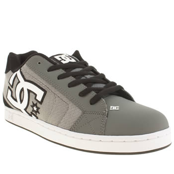 Dc Shoes Grey & Black Net Se Trainers