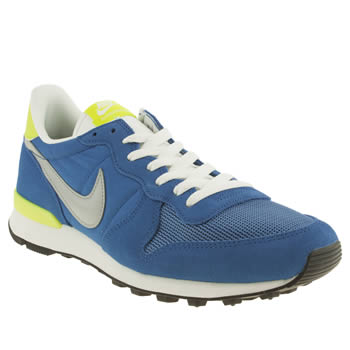 Mens Nike Blue & Yellow Internationalist Trainers