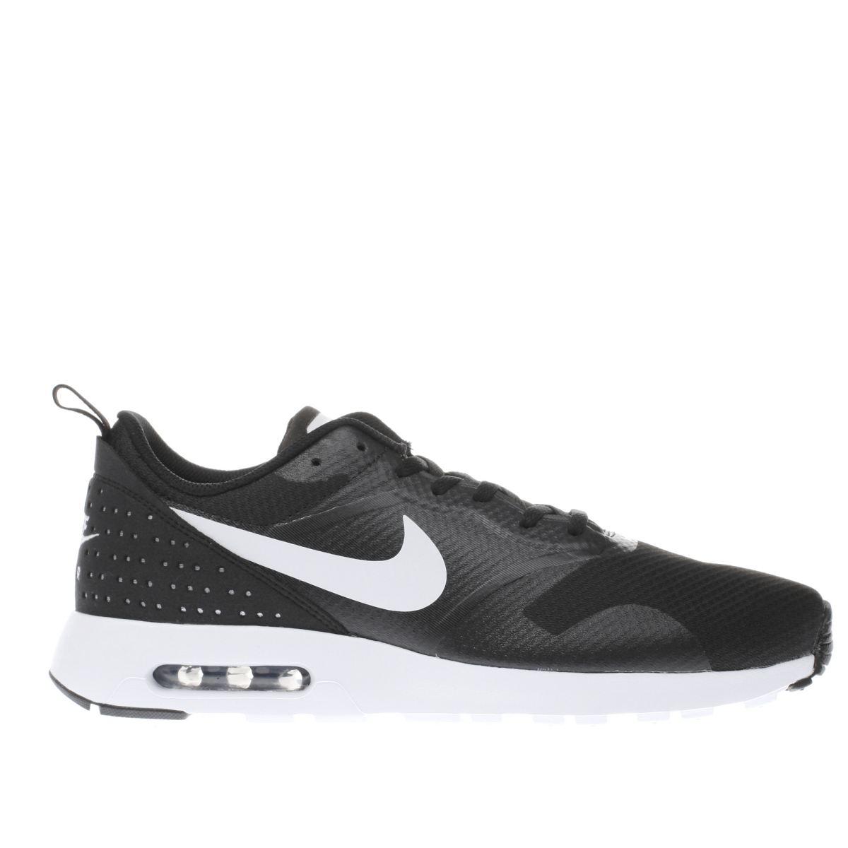 nike black & white air max tavas trainers