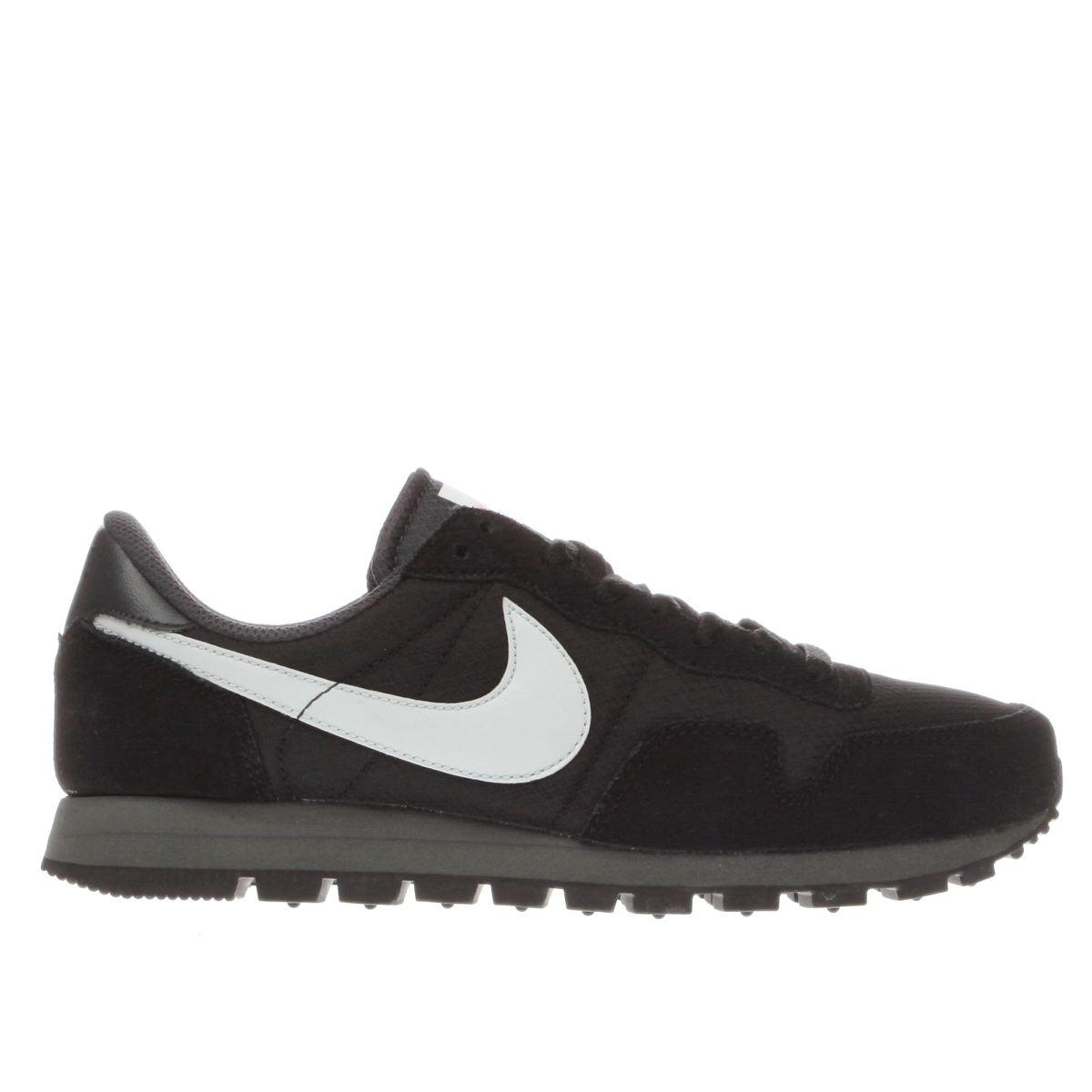 nike black & white air pegasus 83 trainers
