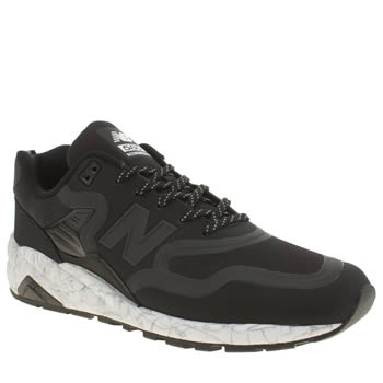 Mens New Balance Black & White 580 Trainers
