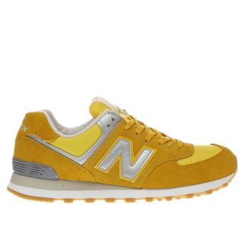 New Balance Yellow 574 Trainers