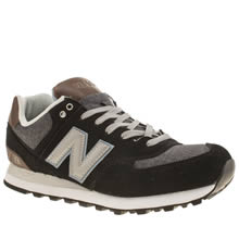 New Balance Black & Navy 574 Trainers