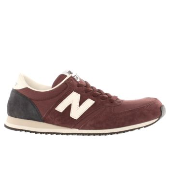 Mens New Balance Burgundy 420 Trainers